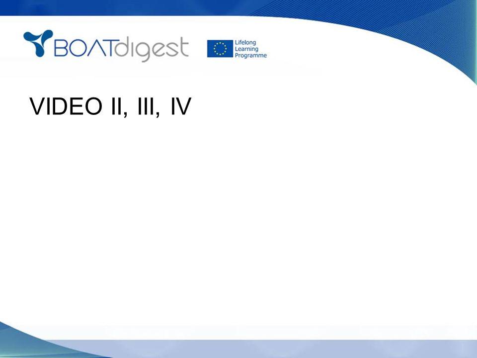 VIDEO II, III, IV