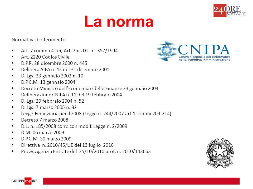 La Deliberazione CNIPA n.