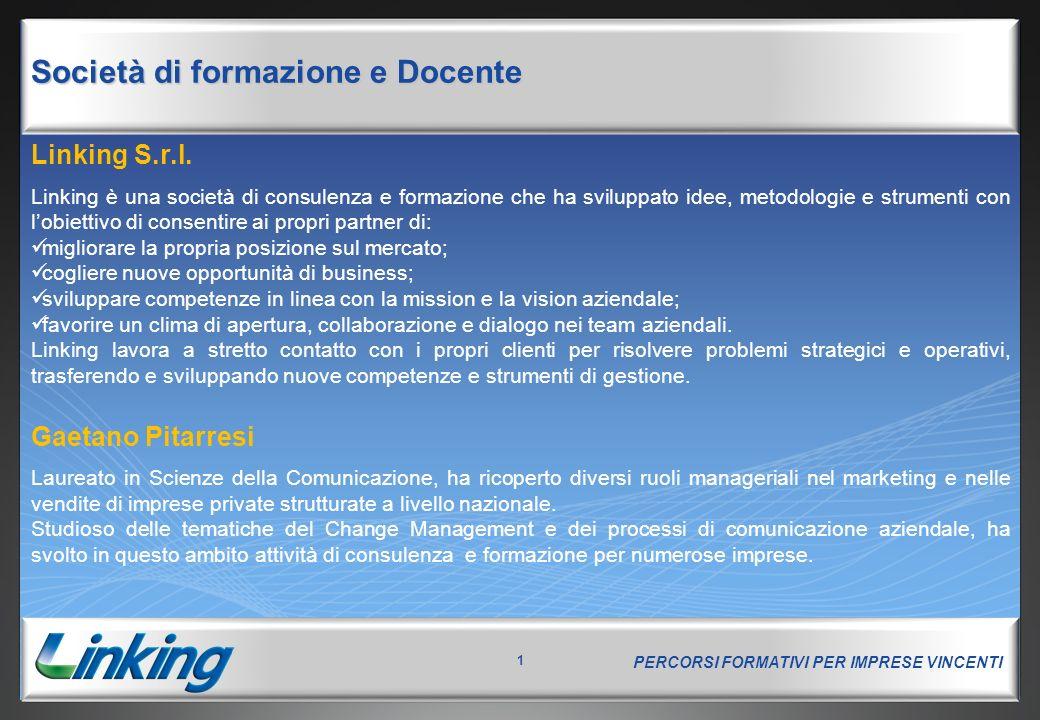 PERCORSI FORMATIVI PER IMPRESE VINCENTI 32 Concorrenza: dall'eccellenza all'unicità The short road to ruìn is to emulate the methods of your adversary. W.