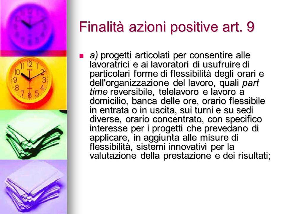 Finalità azioni positive art.
