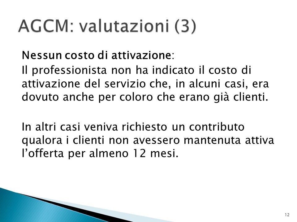 Nessun costo di attivazione: Il professionista non ha indicato il costo di attivazione del servizio che, in alcuni casi, era dovuto anche per coloro che erano già clienti.