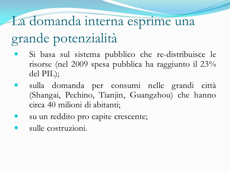 Referenze bibliografiche: The Economist Financial Time World Economic Outlook (IMF) ADB Report.