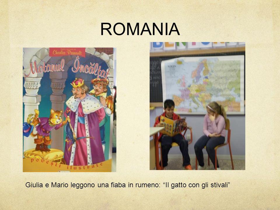 """ROMANIA Giulia e Mario leggono una fiaba in rumeno: """"Il gatto con gli stivali"""""""