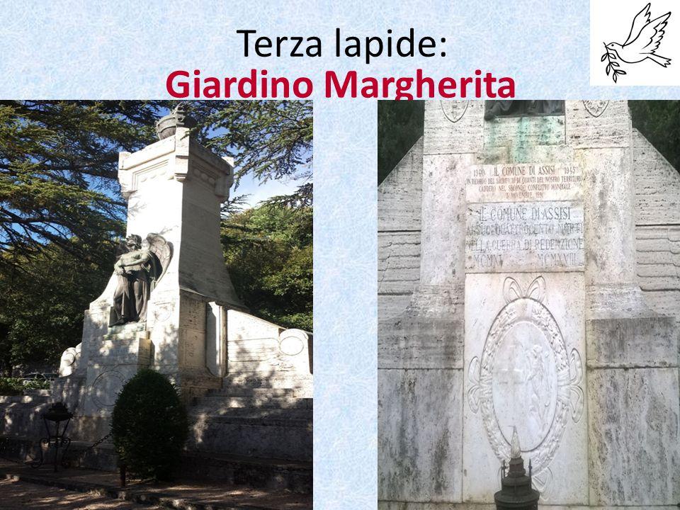 Giardino Margherita Terza lapide:
