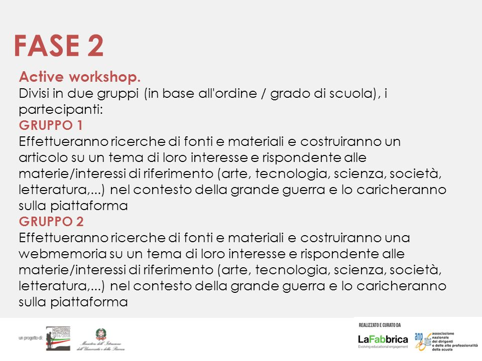 FASE 2 Active workshop.