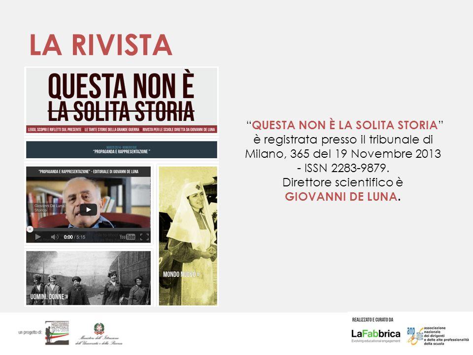LA RIVISTA QUESTA NON È LA SOLITA STORIA è registrata presso il tribunale di Milano, 365 del 19 Novembre 2013 - ISSN 2283-9879.