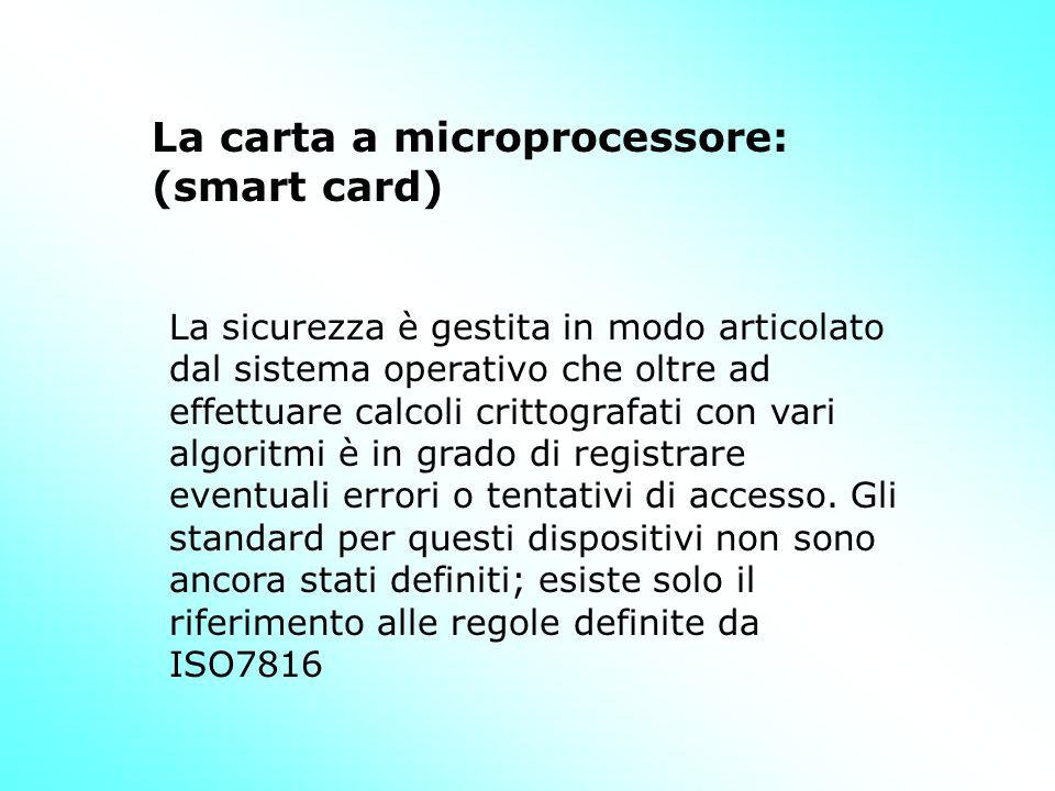 La sicurezza è gestita in modo articolato dal sistema operativo che oltre ad effettuare calcoli crittografati con vari algoritmi è in grado di registrare eventuali errori o tentativi di accesso.