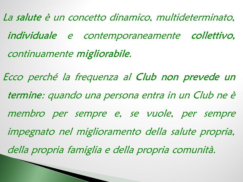 IL CLUB Il CLUB non è una realtà chiusa. E' un elemento della RETE TERRITORIALE di una comunità.