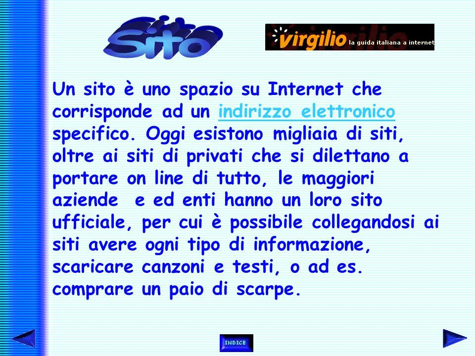 """Tecnicamente il World Wide Web è un insieme di protocolli, che consente di richiamare un documento """"scovando"""" la sua collocazione nella rete, dove ogn"""