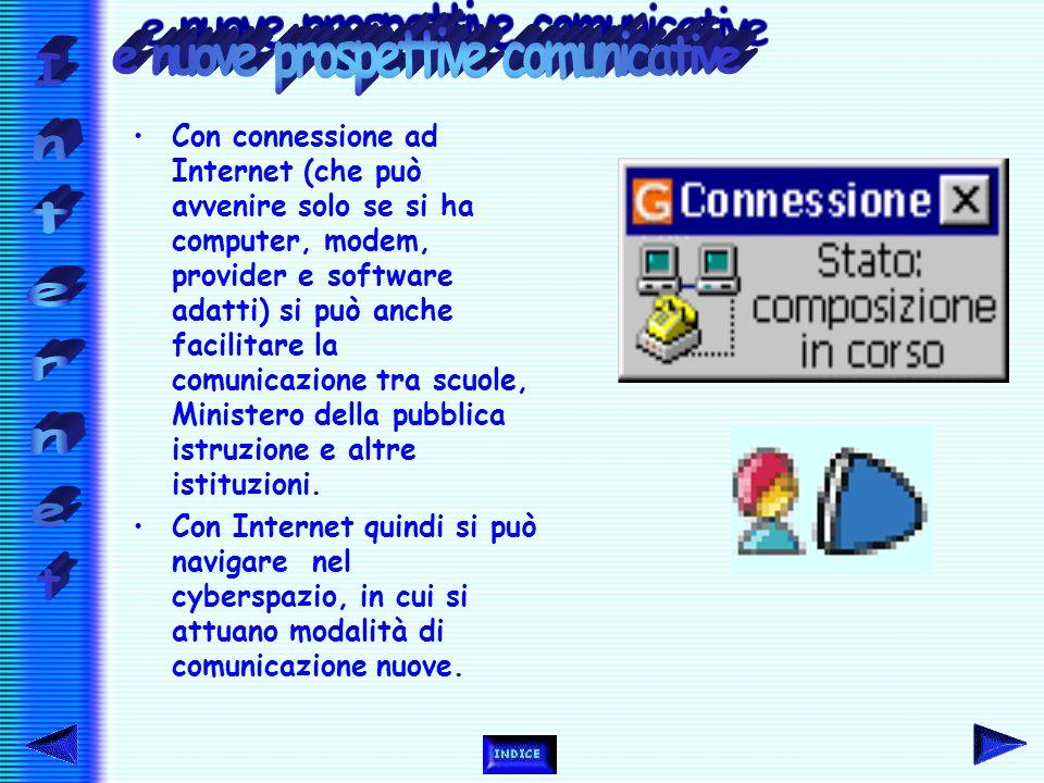 Un indirizzo elettronico è detto URL (Uniform Resource Locator). Conoscere i vari siti rende più rapida la consultazione, nel caso inverso si può cont