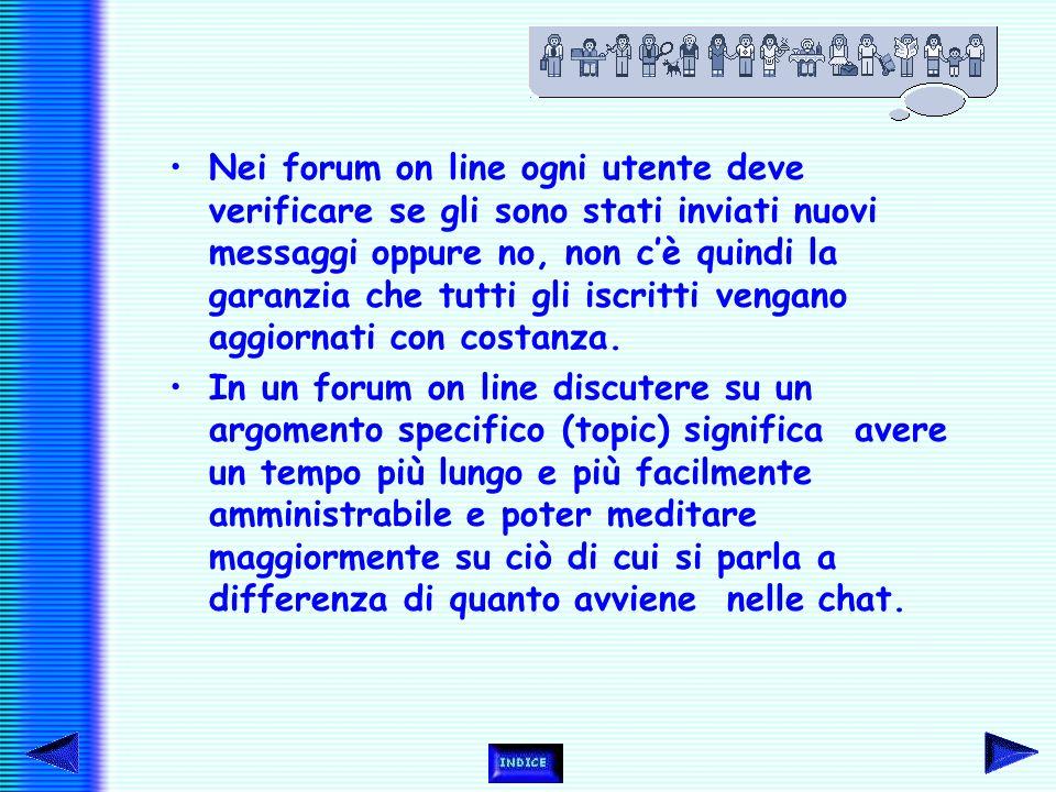 I forum presentano però dei limiti, perché, come le bacheche tradizionali, i messaggi possono essere letti solo se non sono tantissimi. Si rischia un