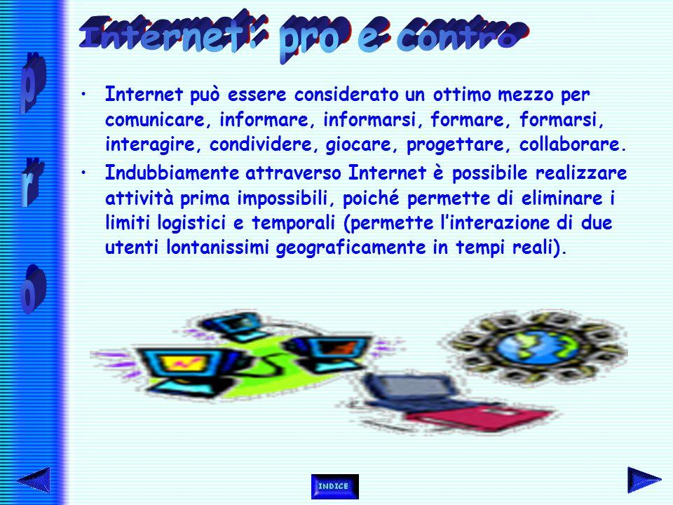 Al di là del fatto che attraverso Internet è possibile dare vita ad una comunicazione sincronica o asincronica, bisogna sottolineare la rilevanza e an