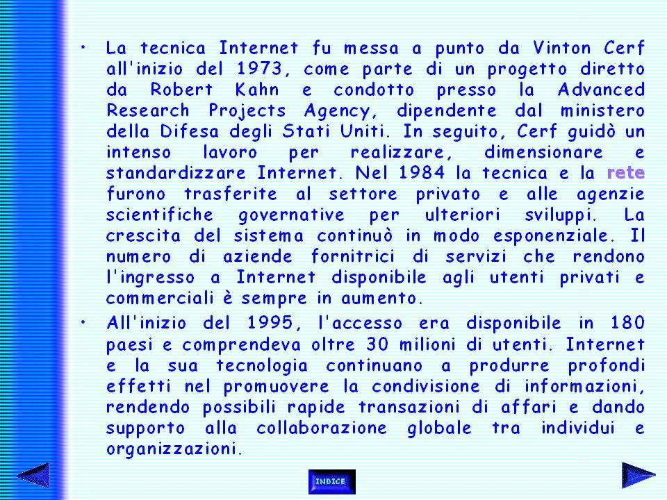 Infatti, come si può vedere dal grafico, gli utenti di Internet dal 1988 al 1996 sono aumentati davvero in larga scala.