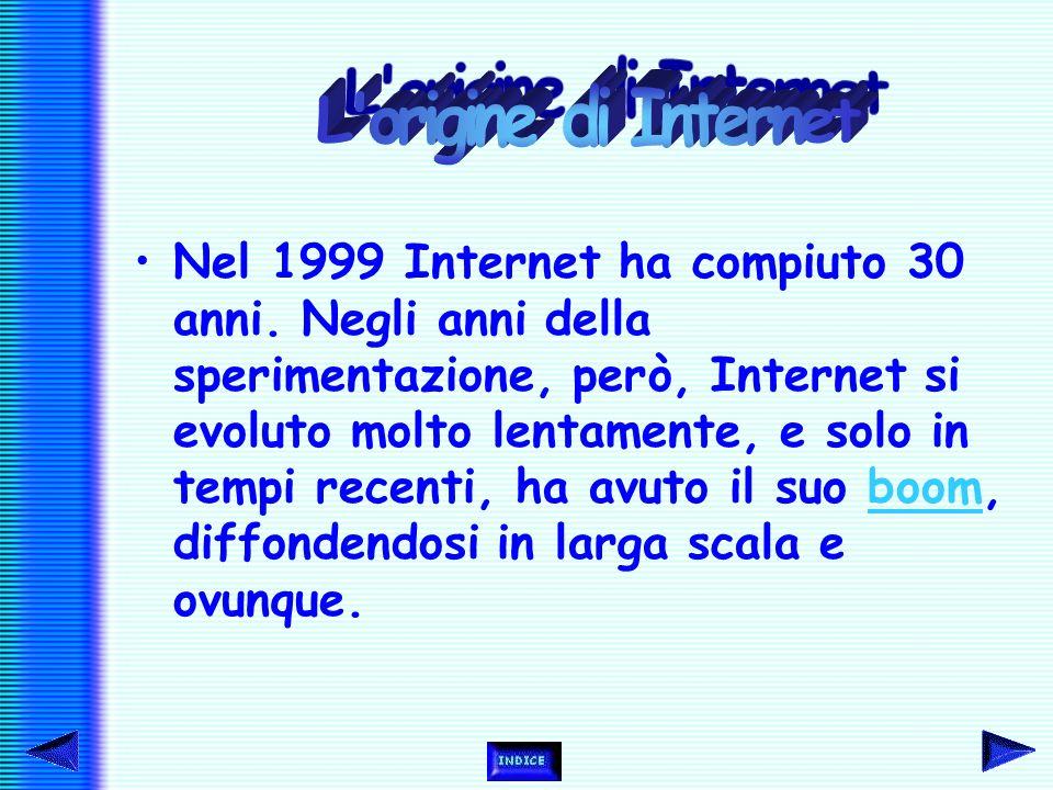Nel 1999 Internet ha compiuto 30 anni.