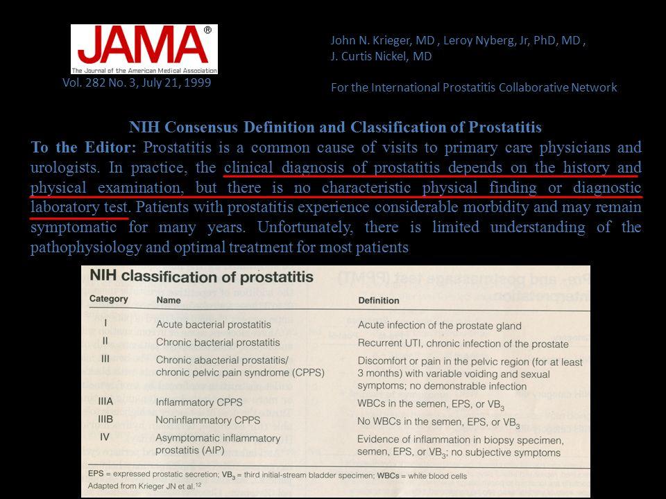 NIH CPSI Dolore4 items Sintomi urinari2 items Rilevanza sintomi2 items QoL1 item