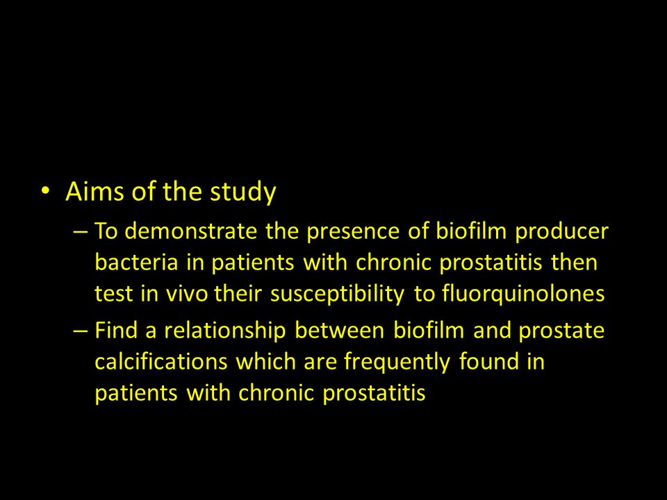 Sanofi PRECL L03691 Biofilm modulatory effect of levofloxacin on strain isolated from upper genital tract patients Aims of the study – To demonstrate