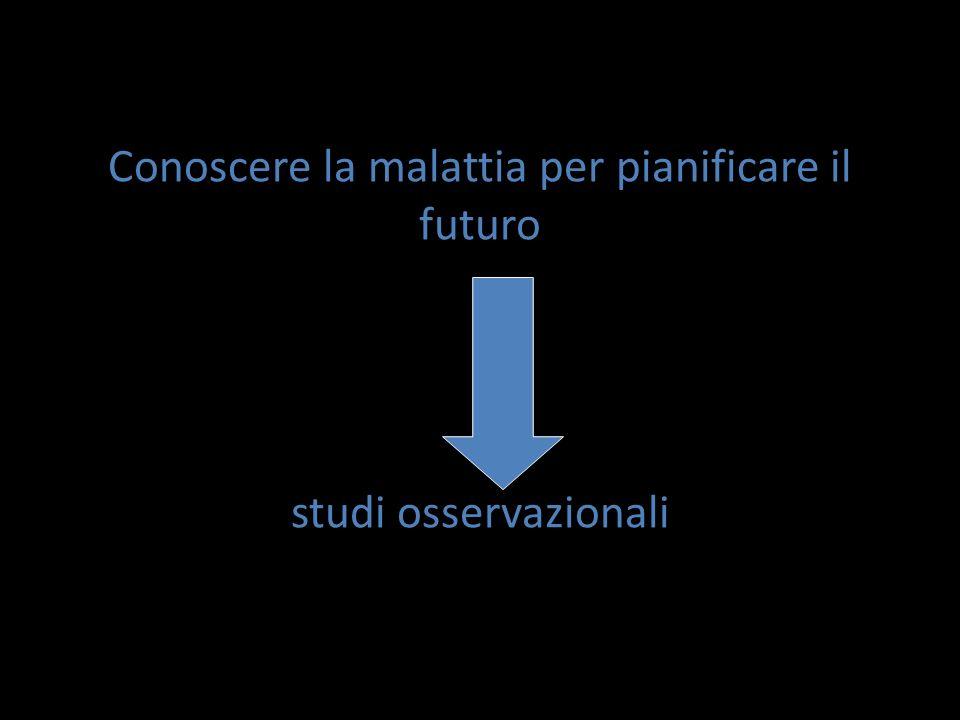 Conoscere la malattia per pianificare il futuro studi osservazionali