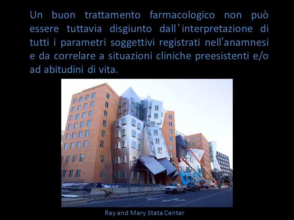 Ray and Mary Stata Center Un buon trattamento farmacologico non può essere tuttavia disgiunto dall ' interpretazione di tutti i parametri soggettivi r