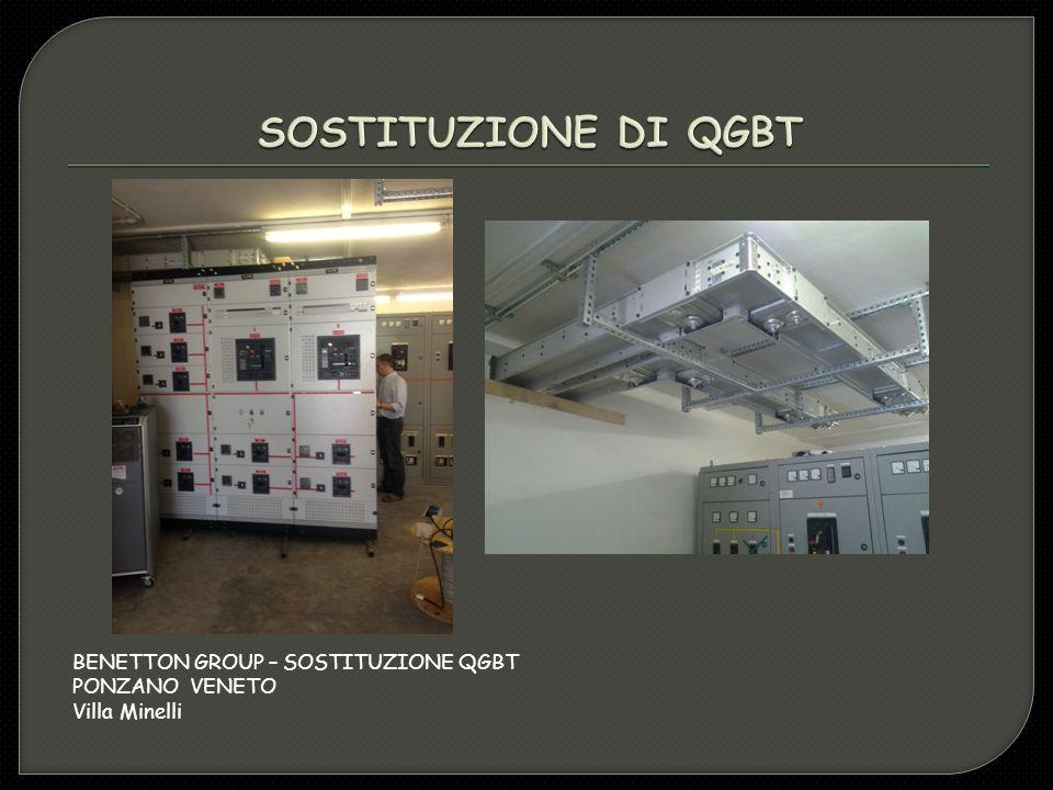 BENETTON GROUP – SOSTITUZIONE QGBT PONZANO VENETO Villa Minelli