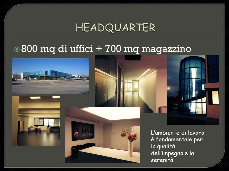  800 mq di uffici + 700 mq magazzino L'ambiente di lavoro è fondamentale per la qualità dell'impegno e la serenità