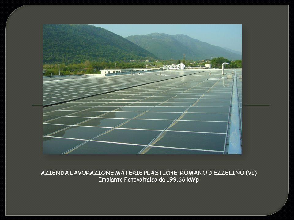 AZIENDA LAVORAZIONE MATERIE PLASTICHE ROMANO D'EZZELINO (VI) Impianto Fotovoltaico da 199.66 kWp