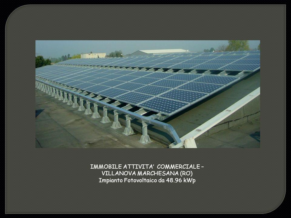 IMMOBILE ATTIVITA' COMMERCIALE – VILLANOVA MARCHESANA (RO) Impianto Fotovoltaico da 48.96 kWp