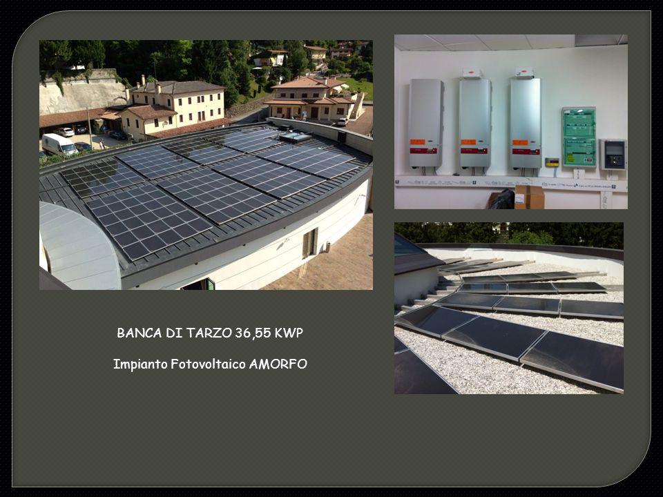 BANCA DI TARZO 36,55 KWP Impianto Fotovoltaico AMORFO