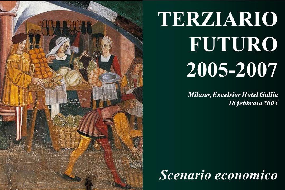 TERZIARIO FUTURO 2005 - 2007 TERZIARIO FUTURO 2005 - 2007 TERZIARIO FUTURO 2005-2007 Milano, Excelsior Hotel Gallia 18 febbraio 2005 Scenario economico