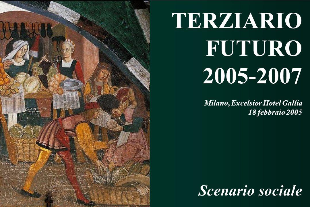 TERZIARIO FUTURO 2005 - 2007 TERZIARIO FUTURO 2005 - 2007 TERZIARIO FUTURO 2005-2007 Milano, Excelsior Hotel Gallia 18 febbraio 2005 Scenario sociale