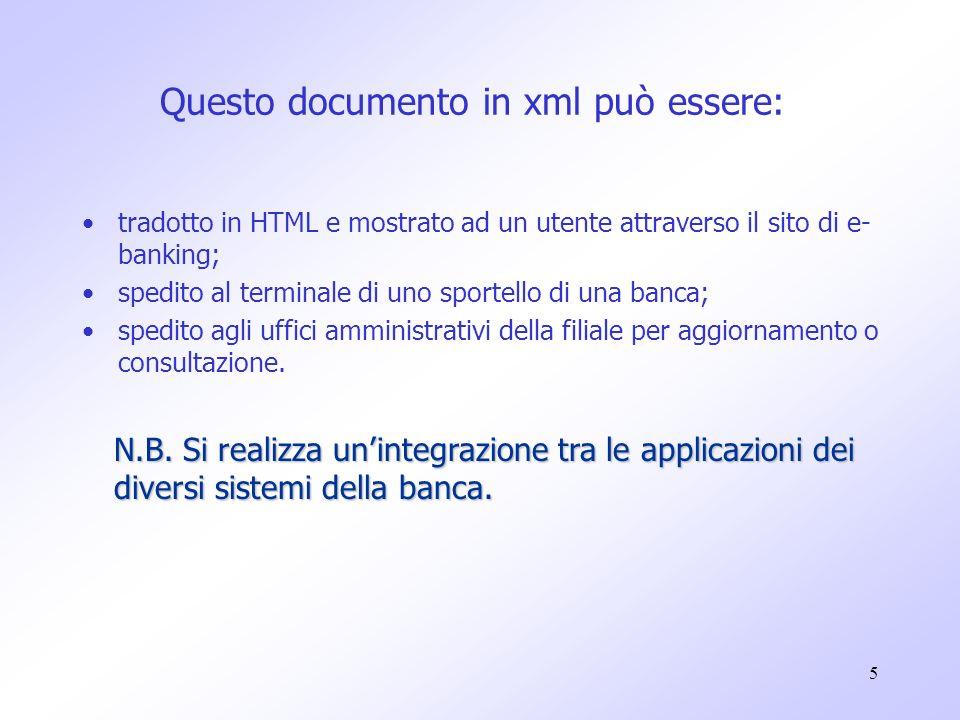 16 Per descrivere i dati si usano dei TAG, che devono sempre essere in coppia: ad ogni tag di apertura, ne corrisponde uno di chiusura.