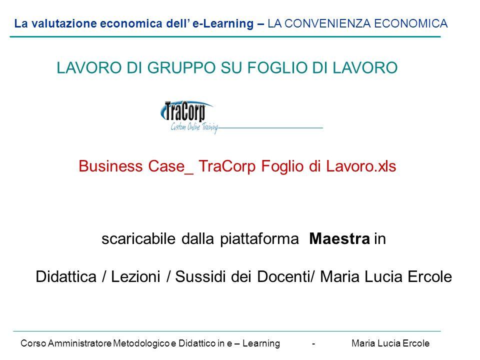 La valutazione economica dell' e-Learning – VALUTAZIONE del R.O.I.
