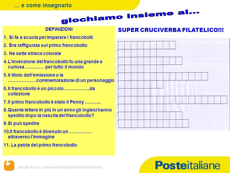Mercato Privati / Commerciale/Prodotti Postali e Altri Servizi DEFINIZIONI 1.