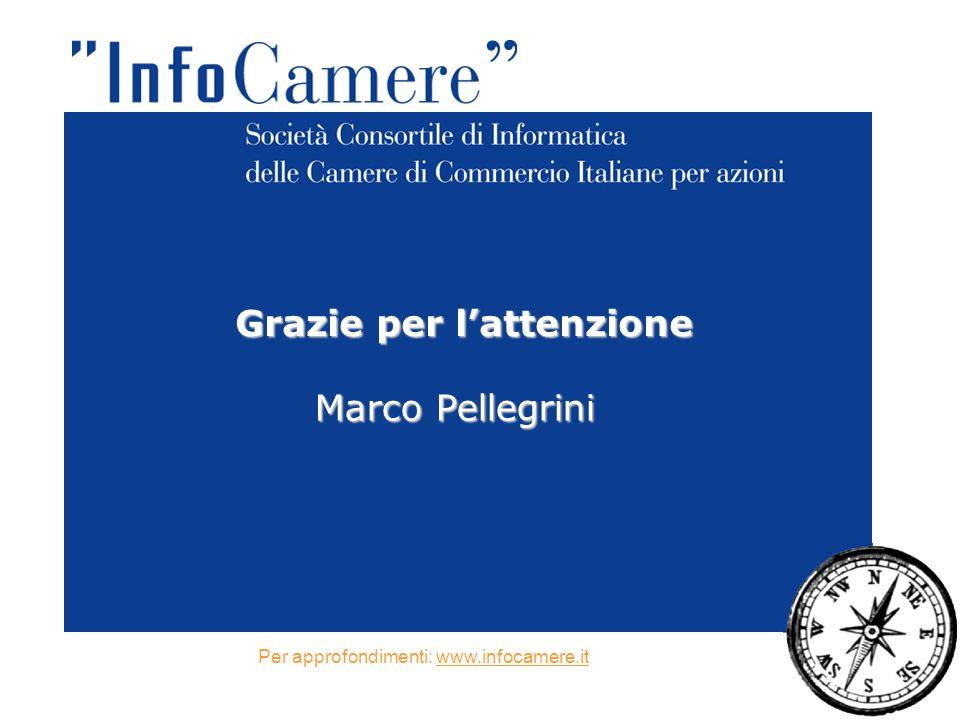 Grazie per l'attenzione Marco Pellegrini Per approfondimenti: www.infocamere.it