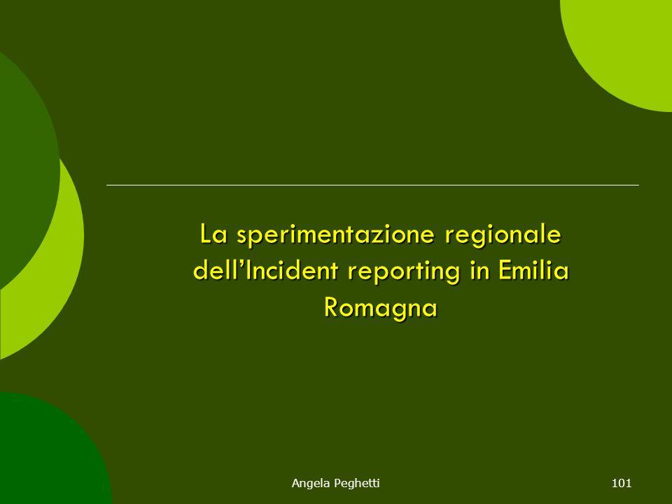 Angela Peghetti101 La sperimentazione regionale dell'Incident reporting in Emilia Romagna