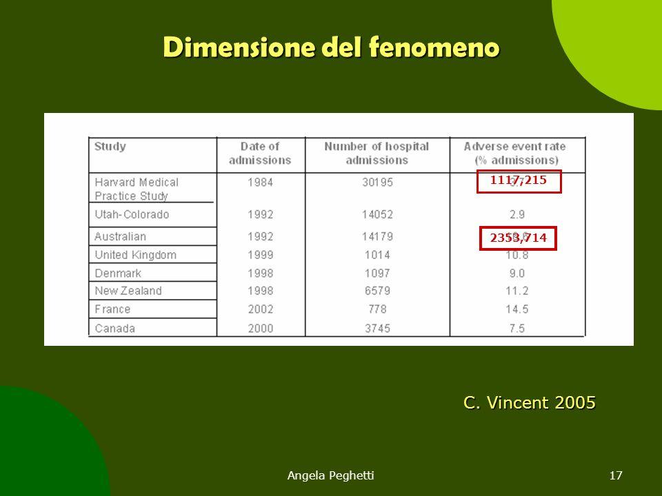 Angela Peghetti17 Dimensione del fenomeno C. Vincent 2005 1117,215 2353,714