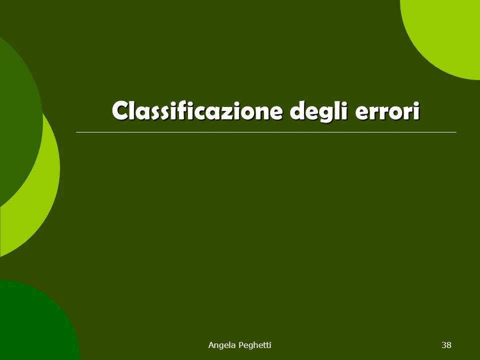 Angela Peghetti38 Classificazione degli errori