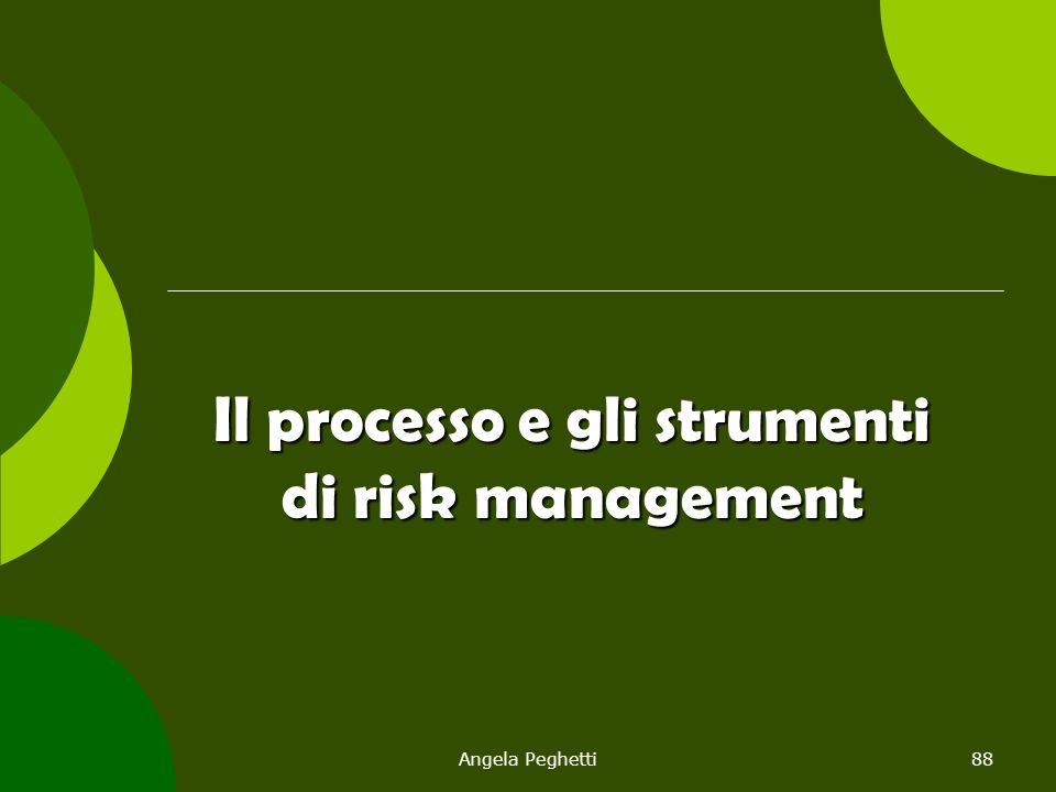 Angela Peghetti88 Il processo e gli strumenti di risk management