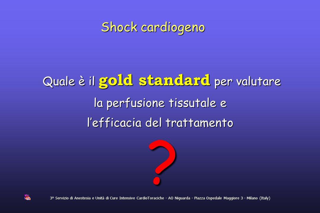 Shock cardiogeno 3° Servizio di Anestesia e Unità di Cure Intensive CardioToraciche - AO Niguarda - Piazza Ospedale Maggiore 3 - Milano (Italy) Quale