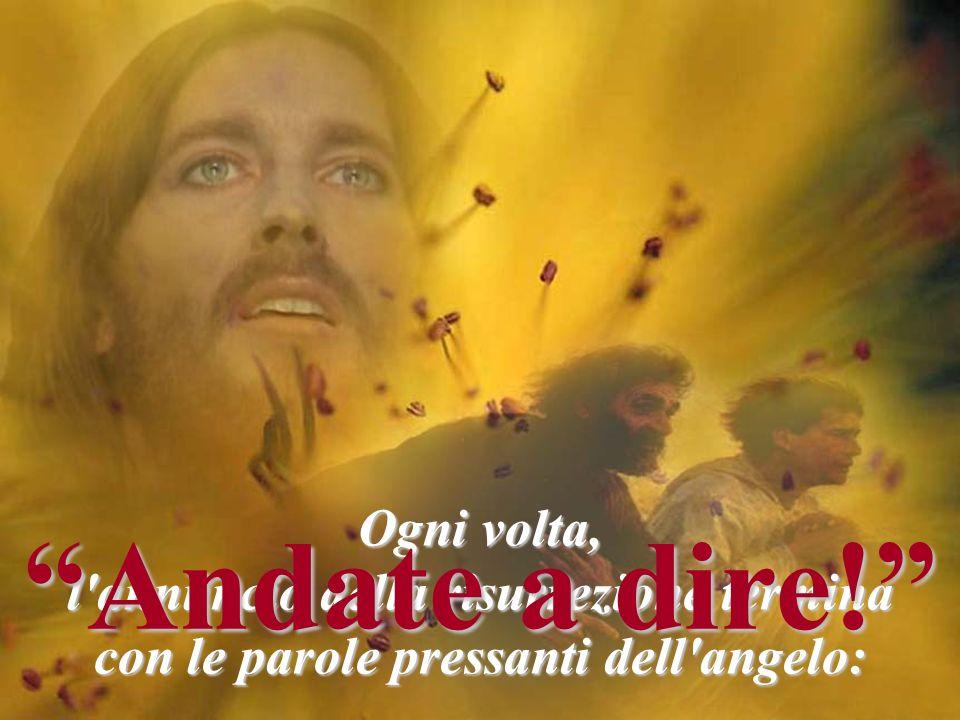 """Ogni volta, l'annuncio della risurrezione termina con le parole pressanti dell'angelo: """"Andate a dire!"""""""