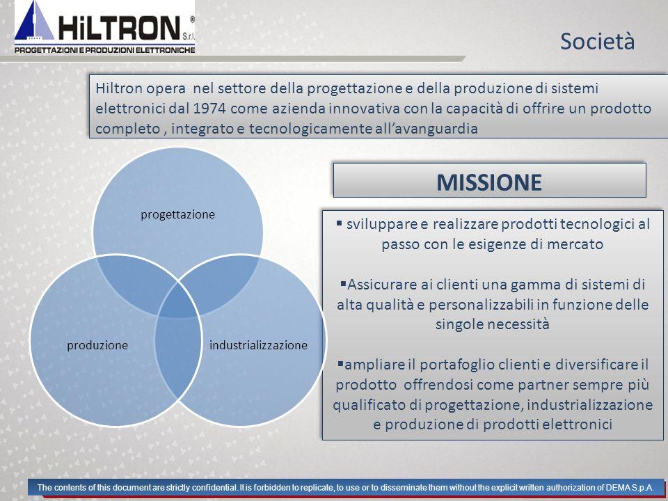 Società Hiltron opera nel settore della progettazione e della produzione di sistemi elettronici dal 1974 come azienda innovativa con la capacità di of