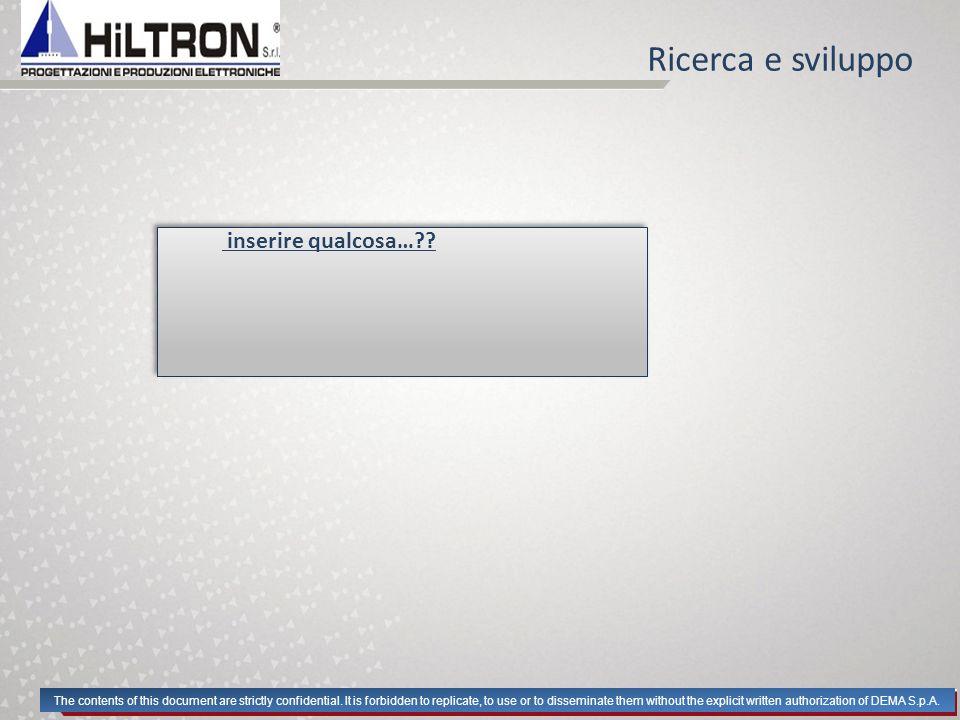 Stabilimento Lo stabilimento Hiltron ha sede a Casoria si sviluppa per XXX mq e XXX mq scoperti.