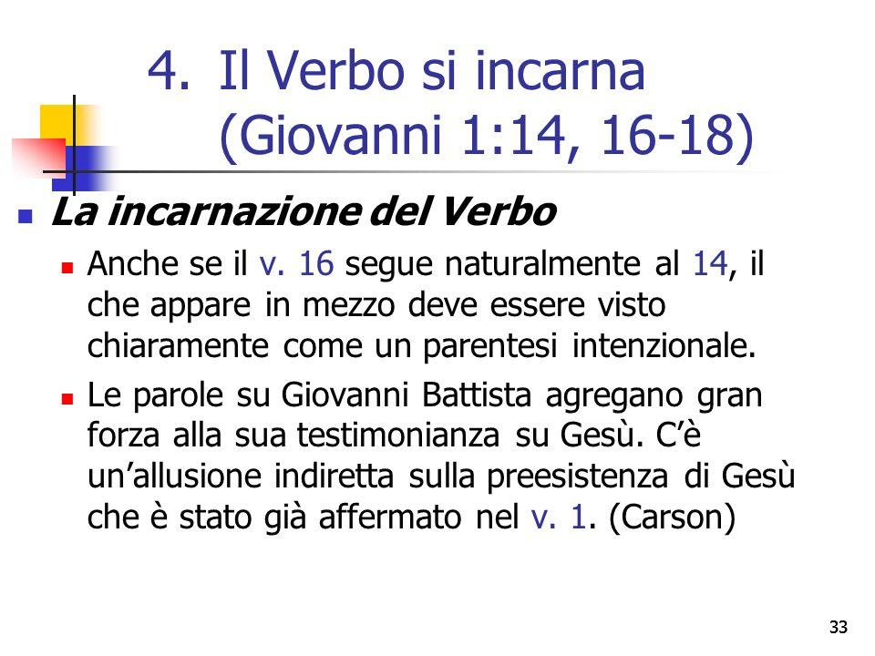 La incarnazione del Verbo Anche se il v.