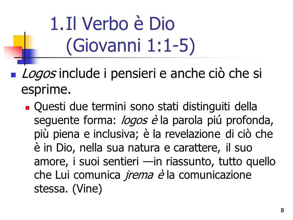 19 La testimonianza cristiana (vv.6-8) Non solo si nega espressamente che Giovanni stesso sia la luce, bensì che si afferma due volte la sua funzione come testimone de la luce (7, 8).