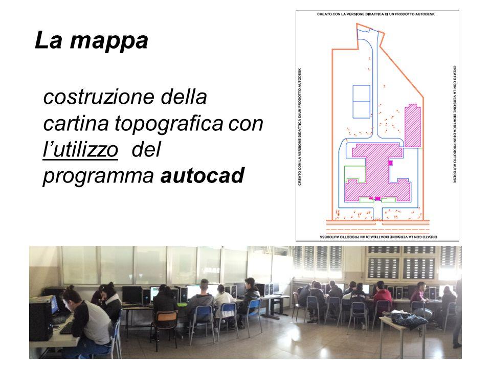 costruzione della cartina topografica con l'utilizzo del programma autocad La mappa