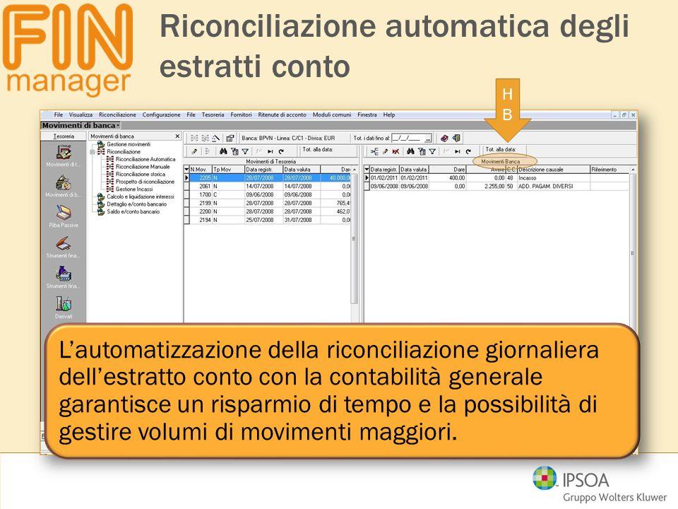 Riconciliazione automatica degli estratti conto HBHB L'automatizzazione della riconciliazione giornaliera dell'estratto conto con la contabilità gener