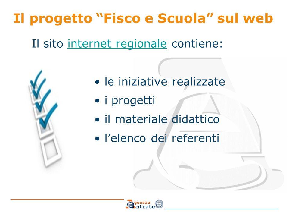 6 Il referente Fisco&Scuola è un importante punto di contatto tra il mondo della scuola e l'Agenzia delle Entrate, promuovendo la cultura fiscale e fungendo da supporto alle attività di formazione intraprese dagli insegnanti.