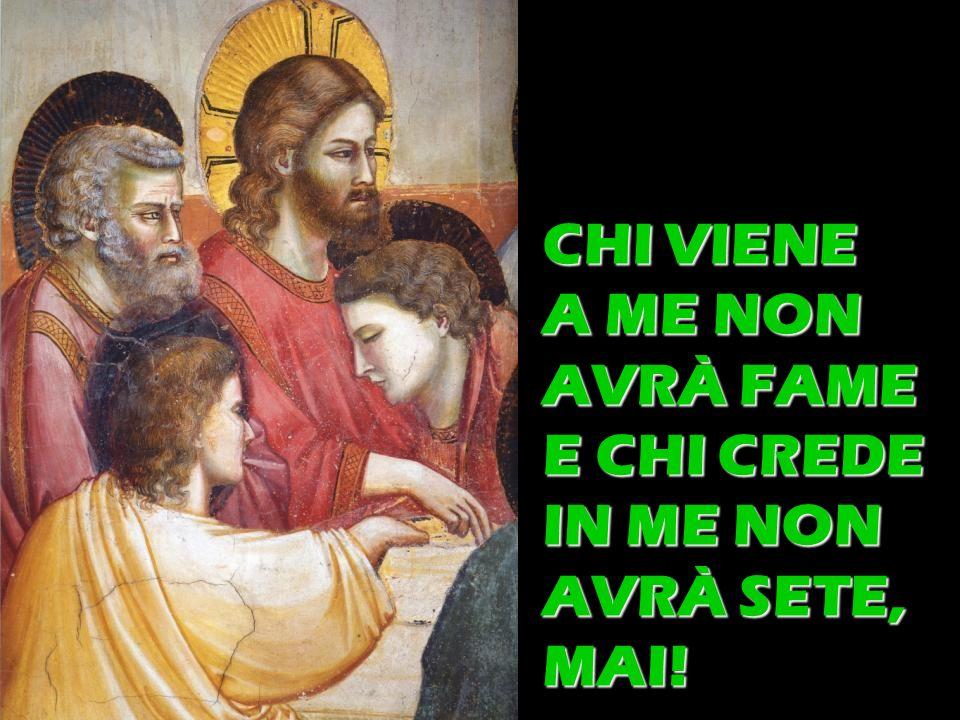 CHI VIENE A ME NON AVRÀ FAME E CHI CREDE IN ME NON AVRÀ SETE, MAI!
