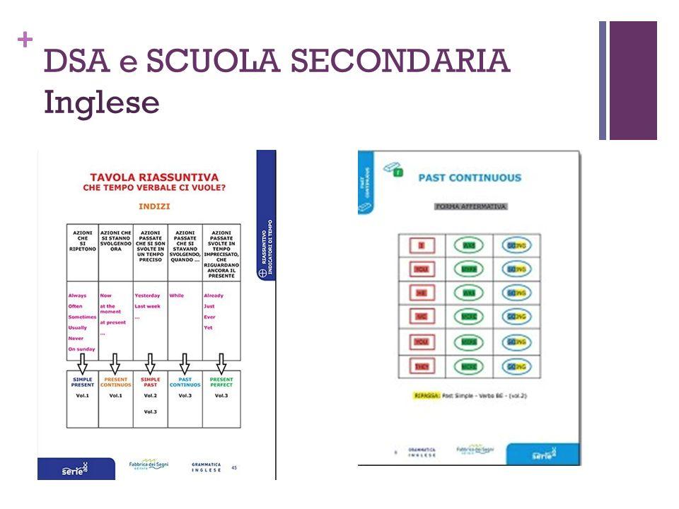 + DSA e SCUOLA SECONDARIA Inglese