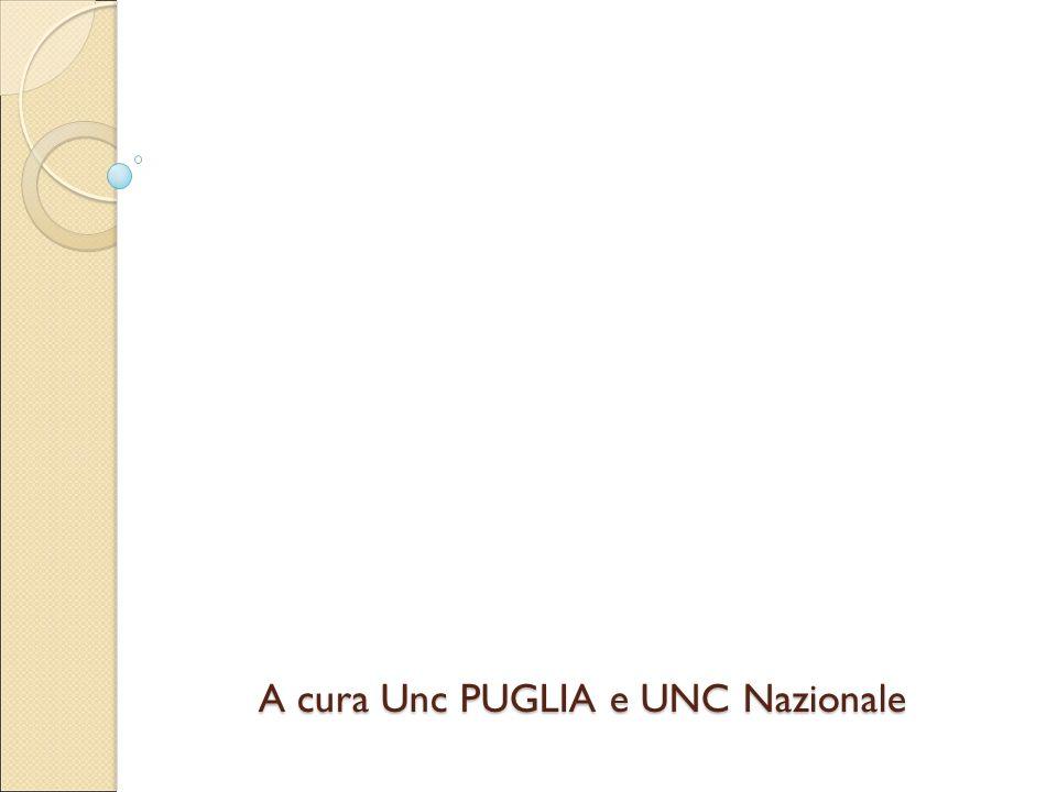 A cura Unc PUGLIA e UNC Nazionale