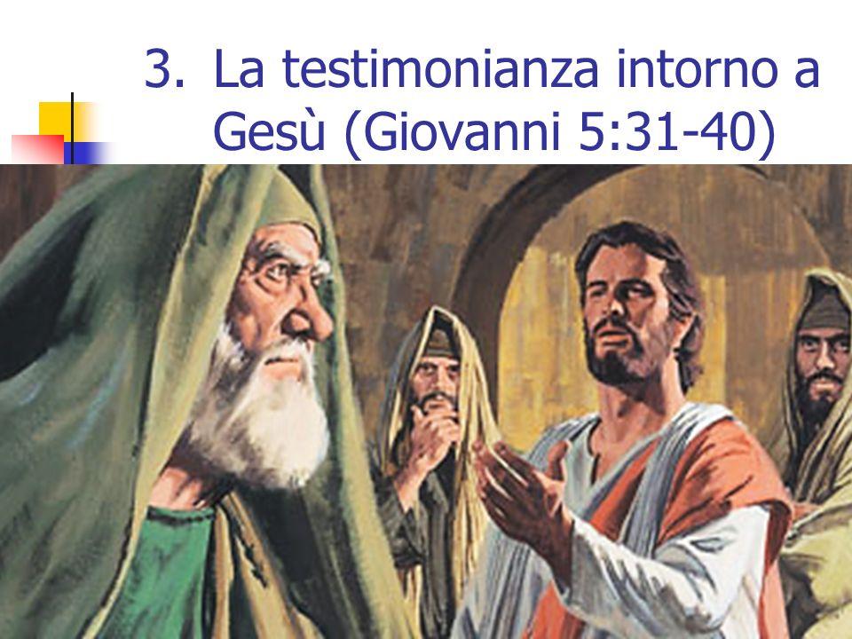 14 3.La testimonianza intorno a Gesù (Giovanni 5:31-40)